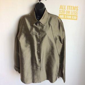 Valerie Stevens Silk Shirt Jacket Size 14.